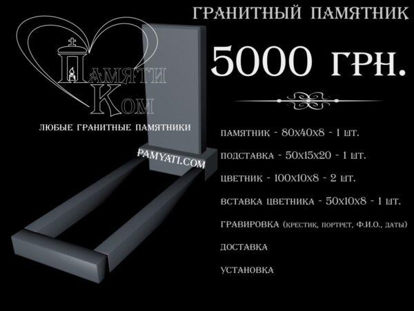 Купить памятник одинарный 80х40